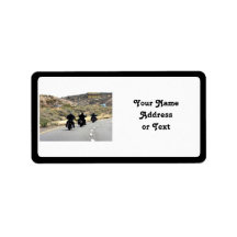Motorcycle Road Trip - Biker Trio Personalized Address Label