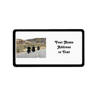Motorcycle Road Trip - Biker Trio Address Label