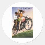 Motorcycle Round Sticker