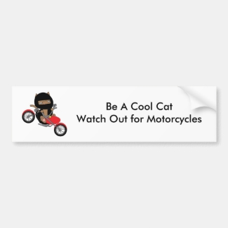 Motorcycle Safety Cool Cat