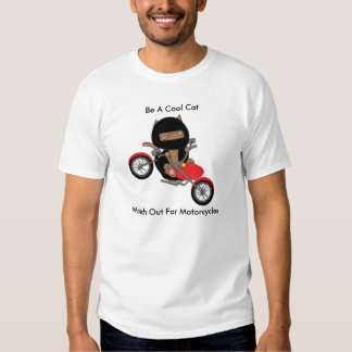 Motorcycle Safety Cool Cat Shirt