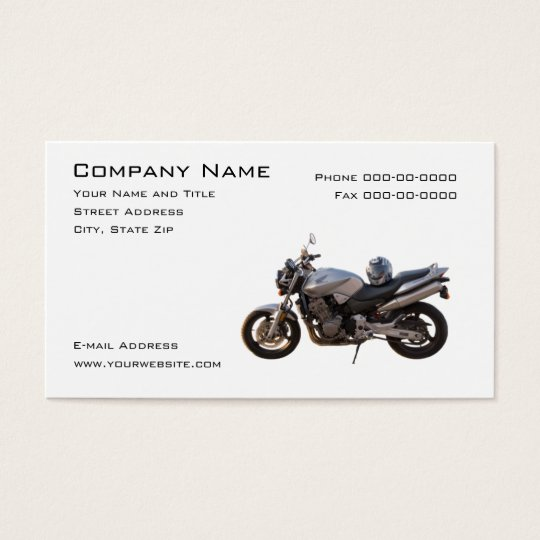 Motorcycle Sales Business Card