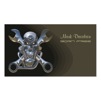Motorcycle sales + repair businesscards business card