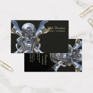 Motorcycle Sales/Repair/Metal Skull/xBones Business Card