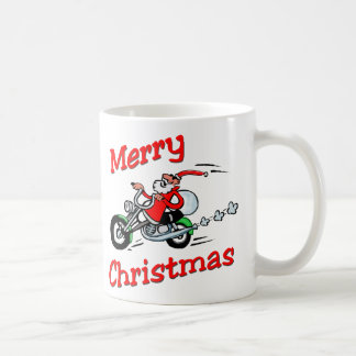 Motorcycle Santa Coffee Mug