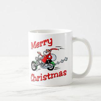 Motorcycle Santa Coffee Mug
