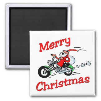 Motorcycle Santa Magnet
