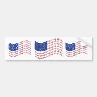 Motorcycle-Shadow-Flag-Wave Bumper Sticker
