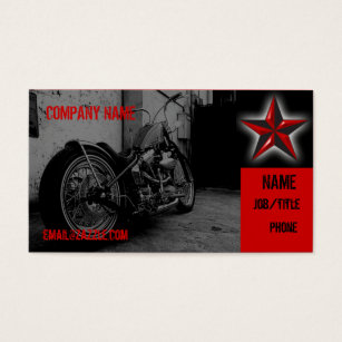 Tattoo business cards templates zazzle motorcycle shop business card flashek Choice Image