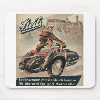 Motorcycle Sidecar Mouse Pad