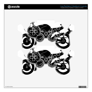 motorcycle silhouette PS3 controller skin