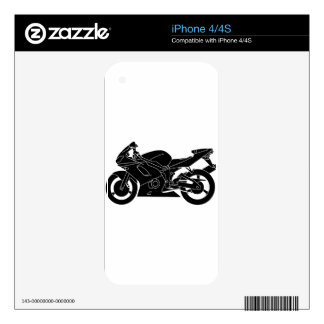 motorcycle silhouette skins for iPhone 4S
