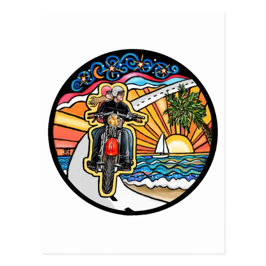 Motorcycle - Skyway Postcard
