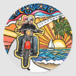 Motorcycle - Skyway Round Stickers