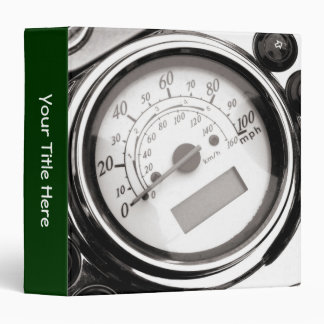 Motorcycle Speedometer 3 Ring Binder
