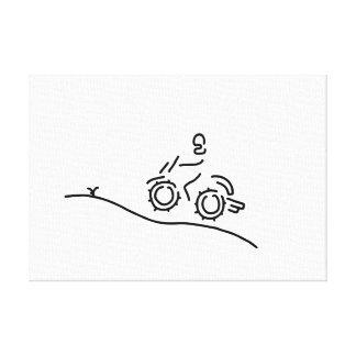 motorcycle sport offroad motocross canvas print