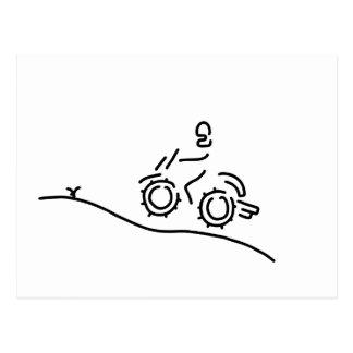 motorcycle sport offroad motocross postcard