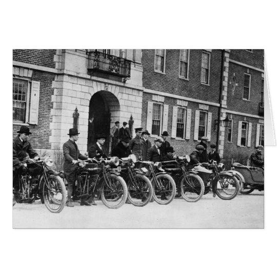 Motorcycle Squad, early 1900s Card