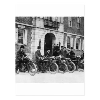 Motorcycle Squad, early 1900s Postcard