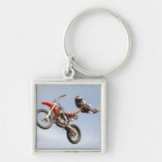 Motorcycle Stunts Keychain