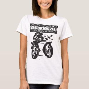 cafe racer t shirts t shirt design printing zazzle BSA Cafe Racer Girl motorcycle t shirt objects in mirror