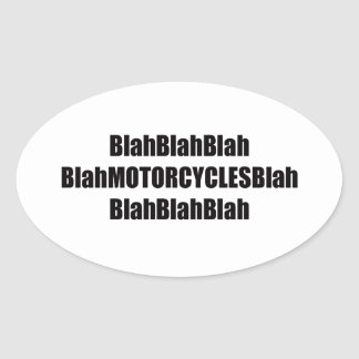 motorcycle templete oval sticker