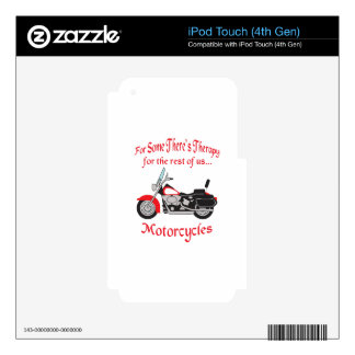 MOTORCYCLE THERAPY DECAL FOR iPod TOUCH 4G
