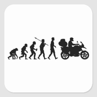 Motorcycle Traveller Square Stickers