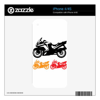 Motorcycle vector decal for the iPhone 4S