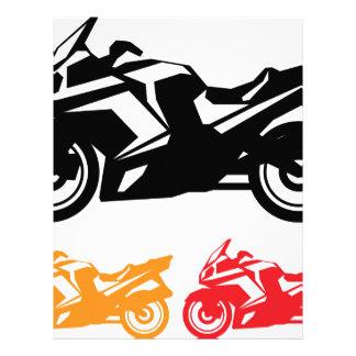 Motorcycle vector letterhead