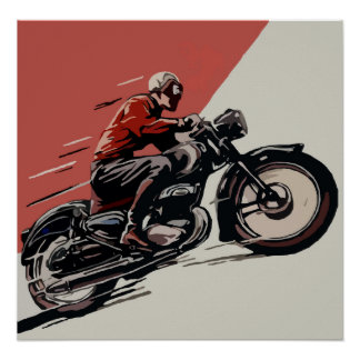 Motorcycle Vintage Ad Poster