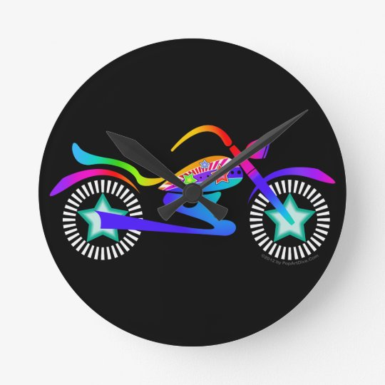 MOTORCYCLE WALL CLOCK by PopArtDiva