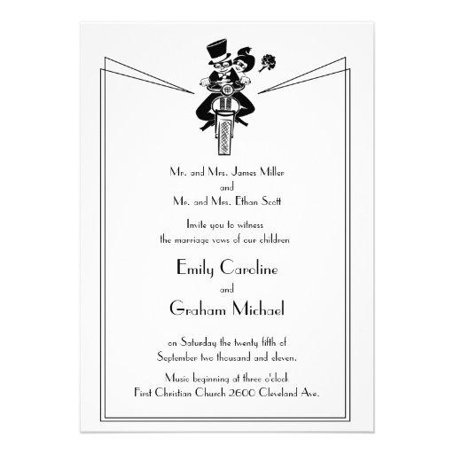Motorcycle Wedding Invitation