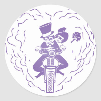 Motorcycle Wedding Sticker