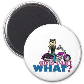 Motorcycle Woman 2 Inch Round Magnet