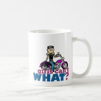 Motorcycle Woman Coffee Mug