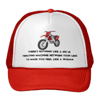 Motorcycle woman trucker hat