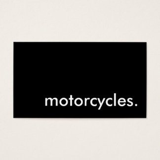 motorcycles. business card