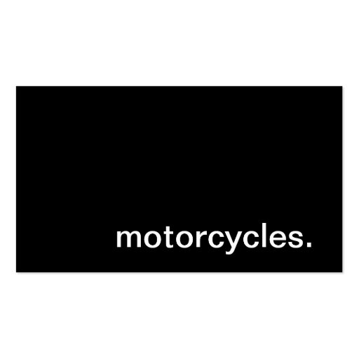 Motorcycles Business Card