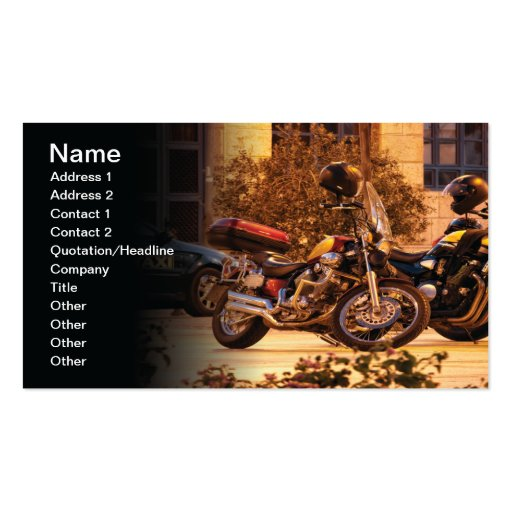 Motorcycles Business Card Templates