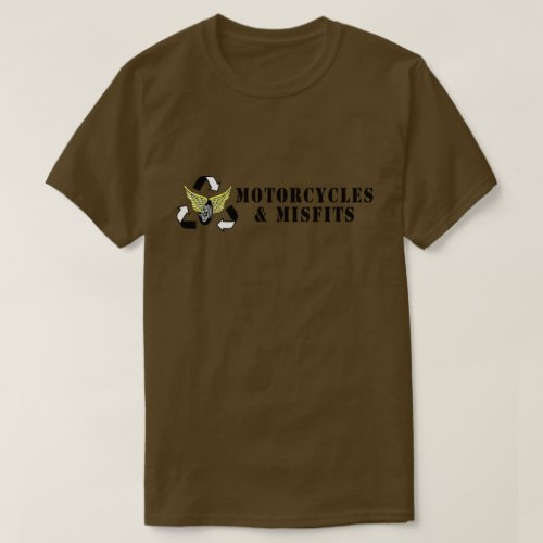 Motorcycles  Misfits Army Green T_Shirt