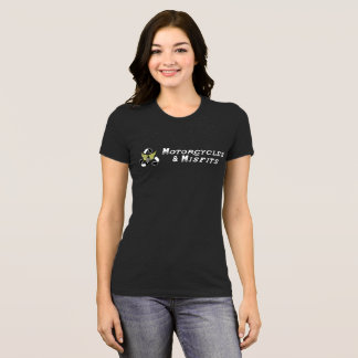 Motorcycles & Misfits Ladies Black T-Shirt