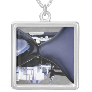 Motorcycles Motorcycle Parts Seat Fuel Tank Photo Silver Plated Necklace