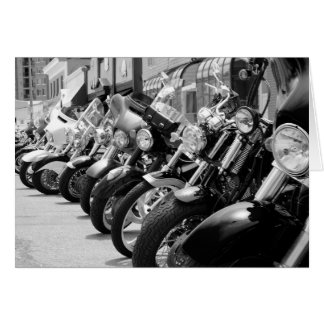 Motorcycles! Notecard by photographer Brad Hines