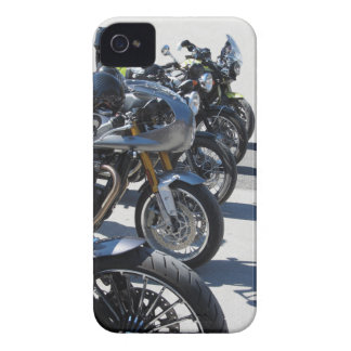 Motorcycles parked in row on asphalt iPhone 4 cover