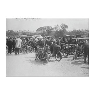 Motorcycles Requisitioned, Paris Photograph Canvas Print