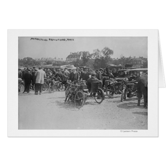 Motorcycles Requisitioned, Paris Photograph Card