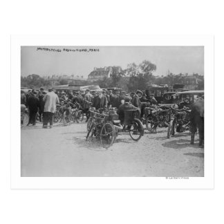 Motorcycles Requisitioned, Paris Photograph Postcard