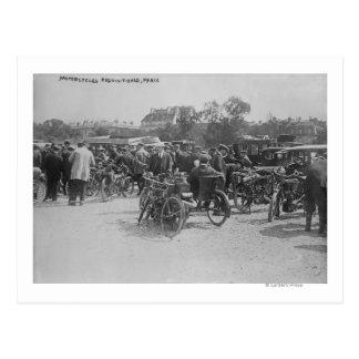Motorcycles Requisitioned, Paris Photograph Postcard