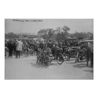 Motorcycles Requisitioned, Paris Photograph Poster